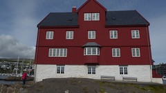 Faroe Islands parliament building (live-that-life) Tags: froyar aug16 faroeislands trshavn red