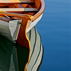 (~SG) Tags: boat wooden reflection water