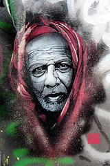 Stencil by Guat Mao [paris 4e] (biphop) Tags: europe france paris streetart stencil pochoir portrait guatemao guate mao