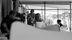la parroquia/street characters (pepe amestoy) Tags: streetphotography people blackandwhite elcampello spain fujifilm xe1 carl zeiss t planar 50mm f2 zm