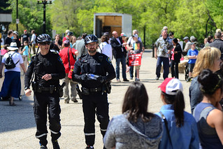 Police Officers Between the Opposing Groups
