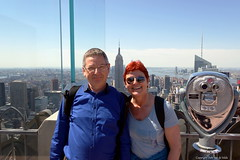 Rockefeller Tower 2014 (DirkVandeVelde Back) Tags: american amerika noordamerika newyork rockefellertower 2014 outdoor verenigdestaten vs rockefellerplaza manhattan topoftherock