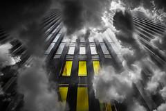Yellow windows (radonracer) Tags: surreal digiart clouds windows yellow fantasy