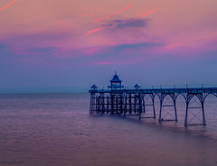 In Harmony With The Sea (Wizard CG) Tags: clevedon pier bristol channel sunset england united kingdom english heritage grade 1 listed historical architecture arches piers severn river colorful gold orange amber blue seascape landscape waterfront ngc cloudsstormssunsetssunrises outdoor ocean water sky shore seaside sand sea beach coast epl7 skyline
