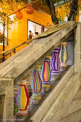 Ester Poon -the Hong Kong Yarn Bomber (Theunis Viljoen LRPS) Tags: central esterpoonthehongkongyarnbomber hongkong staircase broom
