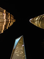 Top Three (camp_bell_) Tags: shanghai world financial center china jin mao tower skyscraper sc swfc grand hyatt building pudong tall light night up