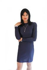 Purple Dress 2 (Hannah McKnight) Tags: tgirl transgender transgirl model crossdress crossdresser stilettos