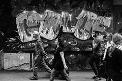 people rushing (xalphas) Tags: bw blackandwhite street photography monochrome fujifilm streetphotography