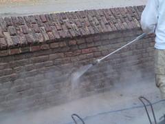 P9154705 (Hervormd-Sprang.nl) Tags: restauratie kerk muur voeg schoonmaken