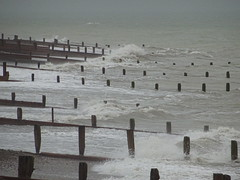 Groynes (andyaldridge) Tags: beach breakwater groyne seaside waves westsussex worthing