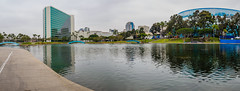 Rainbow Lagoon (Anthony's Olympus Adventures) Tags: longbeach longbeachca shorelinedrive california ca usa america losangeles la longbeachsights travel water raw olympusem10 publicspace publicpark rainbowlagoonpark rainbowlagoon panorama hyattregency lagoon reflection park cityscape