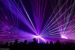 Laser Show (ralfkoplin) Tags: 20geburtstag feuerwerk gymnasium lasershow steinhagen people