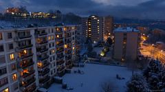 snowy sunset (anjoyplanet) Tags: blue winter sunset test snow colors lumix gold switzerland video vimeo view couleurs or hiver lac lausanne neige manual lman vue panoramique nacre panormaic 2013 fz150 blcherette irris 6fvrier modemanuel nacres