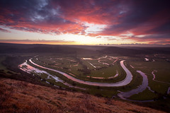 Cuckmere valley Sunrise (JamboEastbourne) Tags: park england sunrise river sussex high south over down east national valley frogs alfriston cuckmere firle