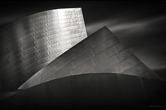 Steel Pyramids (Steve Corey) Tags: ca blackandwhite texture architecture losangeles shapes modernarchitecture disneyconcerthall linesandpatterns stainlesssteelbuilding steelpyrmaids