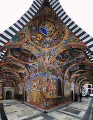 rila monastery vertical panorama (mariusz kluzniak) Tags: europe east eastern balkan bulgaria rila monastery orthodox church paintings panorama vertical vertorama stitch auto sony alpha 77 a77 slt 1020mm super wide angle lens lenses