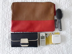 what's in yr bag (julielion) Tags: bag purse clutch whatsinyourbag vintagecellphone
