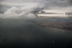 Scattered (Melissa Maples) Tags: sea water clouds turkey boats nikon asia ships trkiye istanbul nikkor bosphorus vr afs  marmara 18200mm  f3556g  18200mmf3556g d5100