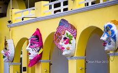 Mardi Gras Masks (dfikar) Tags: carnival party building face wall mexico costume orleans colorful mask decoration places celebration masks mysterious masquerade gras cozumel sanmiguel mardi masque quintanaroo