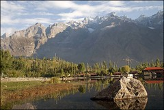 Morning in shangrela resort Skardu (saleem shahid) Tags: