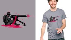 Machine Gun Bloom Bloom (pigb00m) Tags: war banksy shirtdesign machinegun lafraise politicalshirt pigboom