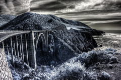 Didn't Stop Bixby (eCHstigma) Tags: california seascape canon landscape bigsur highway1 infrared hdr bixbybridge samyang 60d t3114mm