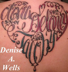 Names made into a Heart Shaped Tattoo by Denise A. Wells (♥Denise A. Wells♥) Tags: flowers wedding blackandwhite flower sexy love lady hope sketch colorful artist drawing faith bodyart skinart sexytattoos tattoodesign tattooflash crosstattoo butterflytattoo girlytattoos flowertattoos hearttattoos exotictattoo tattoosforgirls flowertattoodesigns tattoodesignsforwomen deniseawells customtattoodesign finelinetattoodesign tattoodesignsforgirls girlytattoodesigns prettytattoodesign girlytattoodesign lovetattoodesigns eleganttattoodesigns femininetattoodesigns beautifultattoodrawingsketch exotictattoodesigns sexytattoodesignsforgirls thebesttattoodesigns prettybeautifultattoo prettytattoodesignsforladys girlytattooideas bestgirlytattoos beautifulfemininetattoodesigns tattoosmadeintoshapes namemadeintoaheartshapedtattoo namemadeintoadragonflyshapedtattoo namemadeintoabutterflyshapedtattoo namemadeintoastarshapetattoo