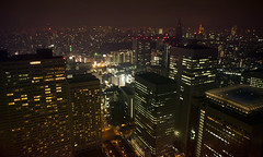 My BladeRunner nights (Alberto Sen (www.albertosen.es)) Tags: park travel viaje window japan skyline night ventana hotel tokyo noche nikon hyatt parkhyatt japon tokio blinking d300s albertosen redlisgts