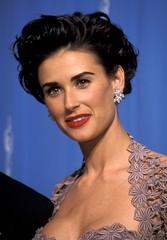 Demi Moore (ffreewheel4) Tags: california red smiling hair losangeles unitedstates diamond short earrings lipstick brunette wavy