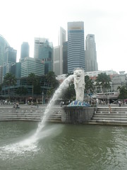 Merlion at Marina Bay (angelikam9) Tags: merlion sinagpore marinabay