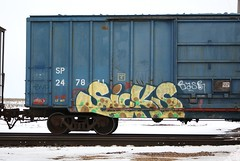 Sicks (quiet-silence) Tags: railroad art train graffiti railcar sp sicks boxcar graff freight wh goldenwest fr8 kbt sp247811