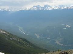 View of the valley from the top of a Peak (Rizwan Choudhry) Tags: canada beautiful river rockies jasper alberta valley