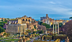 Roman Ruins - Rome, Italy. (Craig Greenwood) Tags: city travel winter sunset sky italy holiday pope rome roma heritage history archaeology beauty architecture landscape italian ancient ruins europe italia raw roman dusk earth euro vibrant famous pantheon scenic royal eu sunny medieval historic haunted colosseum clear holy crisp craig stunning romantic historical colourful marble 1855mm dslr citycentre romanempire senate romans cleopatra mussolini vaticancity benedictus stpeterbasilica romani icapture historicalcity historicalplace historictown historica