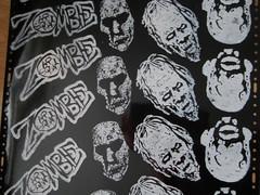 new prints (andres musta) Tags: art print sticker stickerart zombie stickers block squad linoleum adhesive andres zas musta zombieartsquad