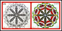 Zendala Dare 47b (Poppie_60) Tags: pen drawings doodle tangle zentangle zendoodle ziazentangleinspiredart zendaladares