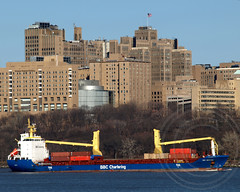 BBC MONTANA Cargo Ship, Hudson River, New York (jag9889) Tags: city nyc ny newyork building hospital boat university ship manhattan vessel center columbia cargo medical hudsonriver barge presbyterian washingtonheights wahi workboat 2011 bbcchartering y2011 jag9889 bbcmontana imo943327