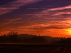 CIMG1794 sunset on my village (pinktigger) Tags: sunset italy landscape italia hill fagagna feagne