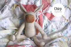 Chirp Rabbit (Fig & Me) Tags: rabbit doll natural handmade poupe lalka clothdoll popje stoffpuppe figandme