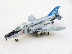 F-4N Phantom of VMFA-321 Hell's Angels (1) (Mad physicist) Tags: usmc fighter lego jet phantom f4 usmarines f4n