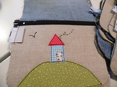 ... and of course ... (monaw2008) Tags: handmade linen fabric pouch denim applique reused monaw monaw2008