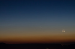 Comet PANSTARRS (Michael Kline) Tags: sunset moon march dusk va comet 2013