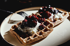 Flax whole wheat waffles (Danube66) Tags: breakfast recipe wheat whole canon5d waffle markii flaxseed explored honeyimhome nellyneroactions