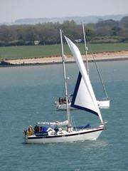 Various Yachts - 3 of 7 - Ocean Flame III (stepheneverettuk) Tags: uk england canon hampshire isleofwight solent southampton southernengland southamptonwater undersail s3is steveeverett oceanflameiii
