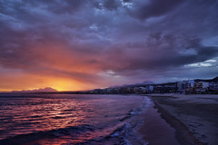 Break of the day (Theophilos) Tags: sea sky mountains clouds sunrise crete rethymno