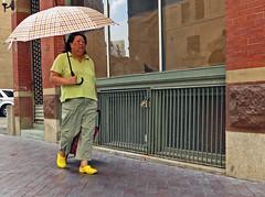 Boston45BroadStreet (fotosqrrl) Tags: urban yellow boston umbrella massachusetts streetphotography parasol broadstreet