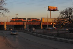Sunset Geeps (iaisrailfan) Tags: harbor belt overpass indiana il cp 341 broadview 349 gp382 3801 ihb 3802 i290 na11