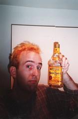 Cuervo gold (Area Bridges) Tags: film me hair paper print washingtondc dc washington pentax tequila sean scan blond scanned 1998 bleached mesuper