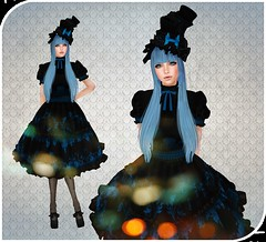 It's never late to go back to Wonderland (Zilypon) Tags: life blue black cute dress blu alice lolita secondlife kawaii second wonderland rmk kawai rokumeikan