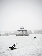 Flurry of Snow  - Magdalen Green Bandstand  - Winter Scene  - Dundee Scotland (Magdalen Green Photography) Tags: scotland dundee tayside wintry winterscene magdalengreenbandstand scottishwinter iaingordon dundeewestend flurryofsnow magdalengreenphotography