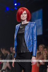 LMFF 2013 - R6 Cosmo - Lucette (Naomi Rahim (thanks for 5 million visits)) Tags: blue fashion female cosmopolitan model australia melbourne docklands runway leatherjacket aw fashionweek lucette 2013 lmff lorealmelbournefashionfestival redwigs runway6 aw13 naomirahim
